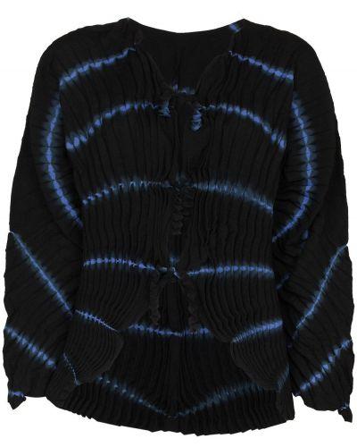 Черная кардиган с завязками с V-образным вырезом Issey Miyake