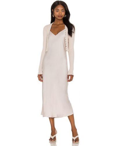 Кожаное платье - розовое Allsaints