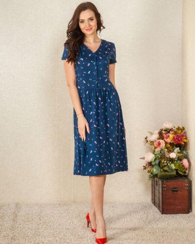 Повседневное домашнее с рукавами платье Lena Basco