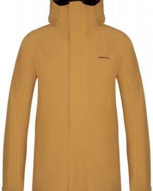 Прямая желтая куртка с капюшоном на молнии с карманами Merrell