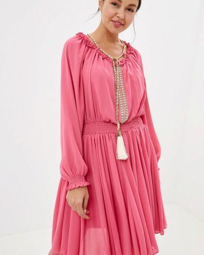 Платье розовое прямое Soky & Soka