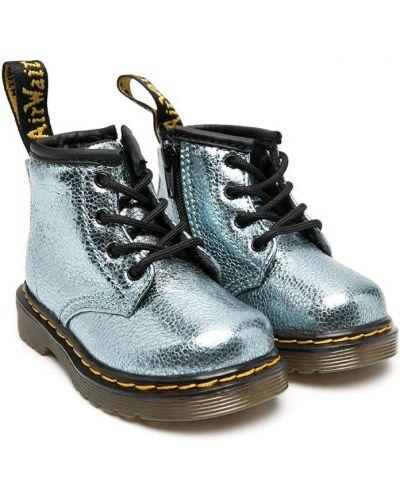 Ажурные сапоги на шпильке на каблуке на шнуровке круглые Dr. Martens Kids