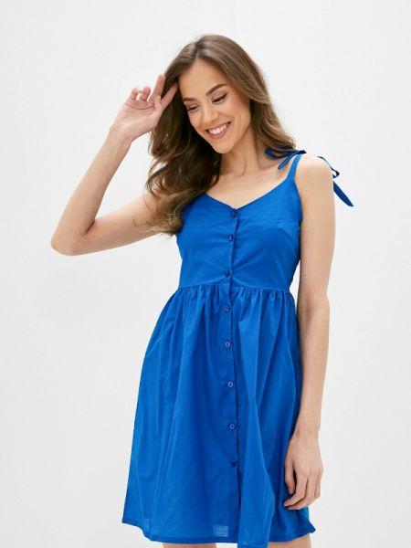 Пляжное платье синее весеннее Deseo