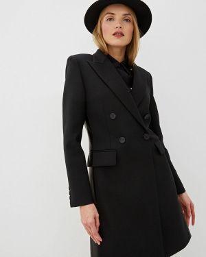 Черное пальто с капюшоном Barbara Bui
