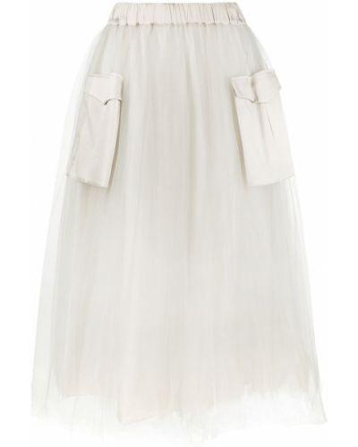 С завышенной талией юбка миди из фатина с карманами Fabiana Filippi