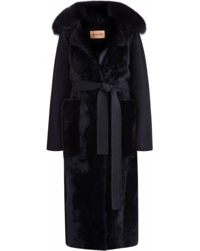 Пальто с капюшоном классическое с поясом Yves Salomon