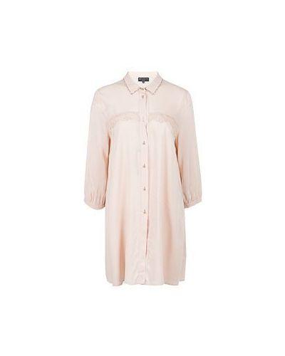 Платье из вискозы - розовое Elisa Fanti