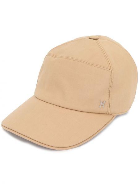 Хлопковая коричневая кепка на кнопках Hermes