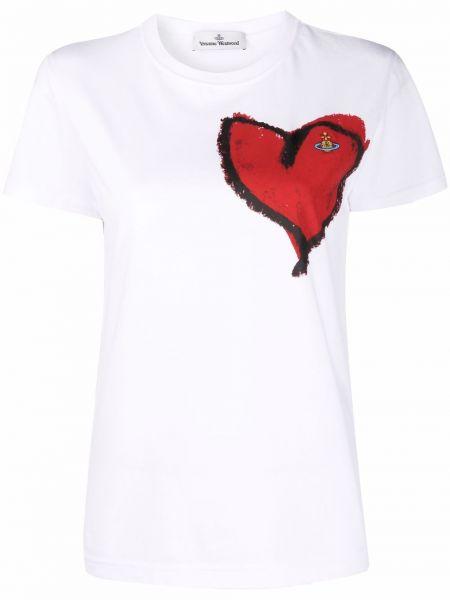 Белая хлопковая футболка Vivienne Westwood