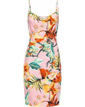 Платье мини миди с цветочным принтом Bonprix
