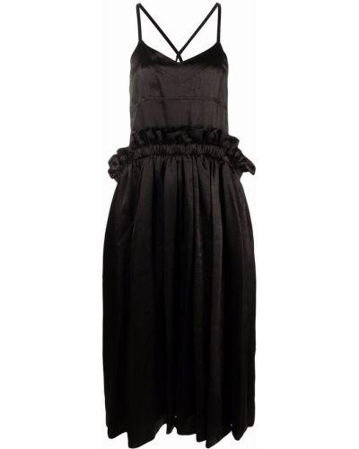 Расклешенное черное платье без рукавов Comme Des Garçons Noir Kei Ninomiya