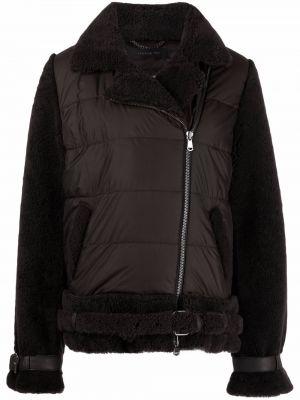 Кожаная куртка длинная - коричневая Federica Tosi