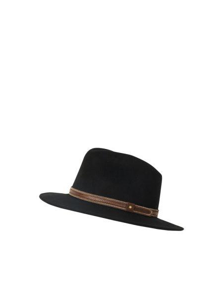 Czarny kapelusz wełniany Müller Headwear