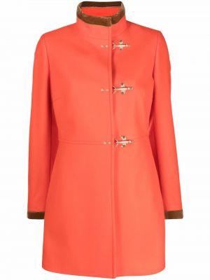 Шерстяное пальто - оранжевое Fay