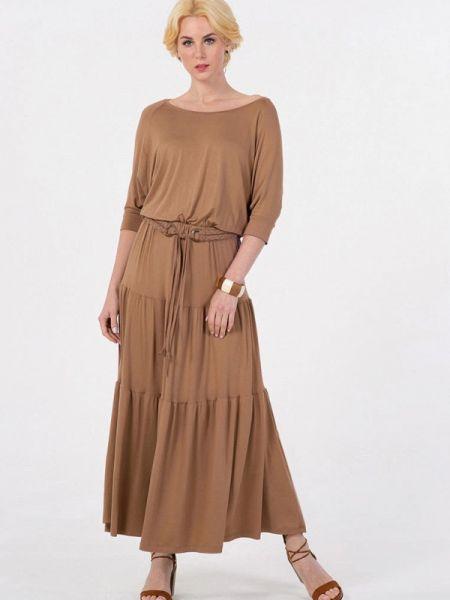 Повседневное коричневое повседневное платье Petit Pas