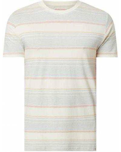 Biały t-shirt bawełniany w paski Rvlt/revolution