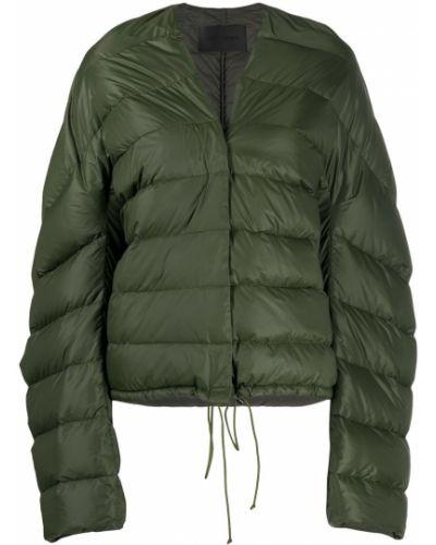 Однобортная зеленая куртка с вырезом Christian Wijnants
