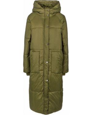 Длинная куртка демисезонная зеленая B.young