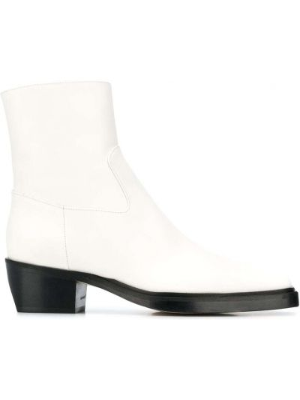 Кожаные ботинки - белые Gia Couture