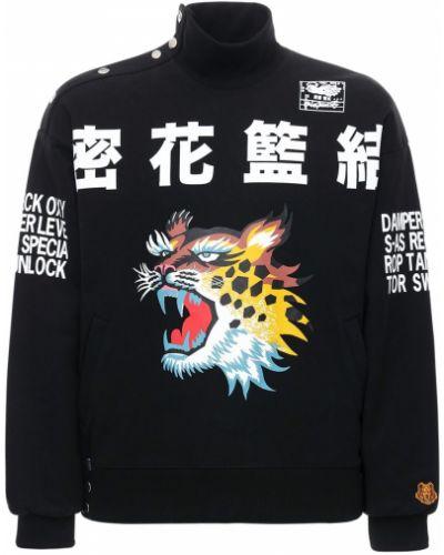 Czarny z rękawami bluza z kieszeniami z łatami Kenzo