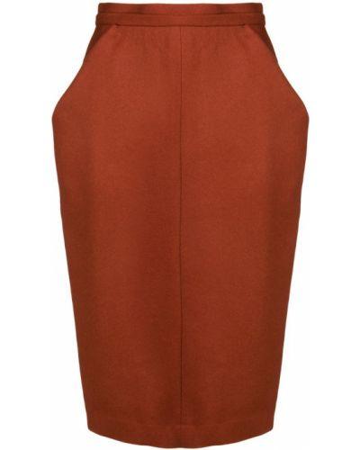 Шерстяная юбка - красная Chalayan