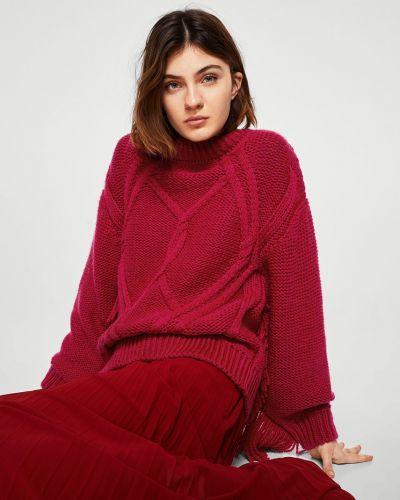 Вязаный свитер с бахромой свободного кроя Mango