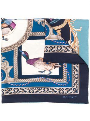 Синий платок Salvatore Ferragamo
