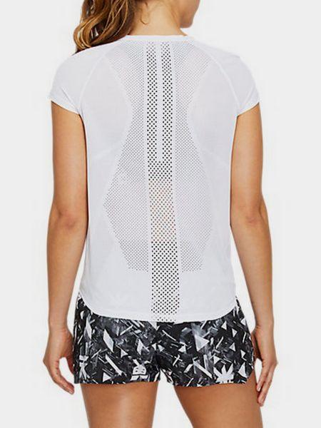 Белая спортивная футболка для бега сетчатая Asics