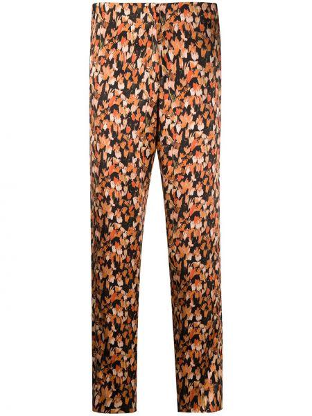 Pomarańczowe spodnie z wysokim stanem z paskiem Each X Other