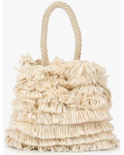 Бежевая пляжная сумка Mango