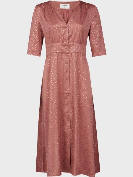Розовое платье на пуговицах Ba&sh