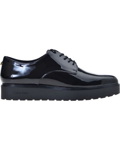 Туфли на танкетке кожаные на каблуке Calvin Klein Jeans