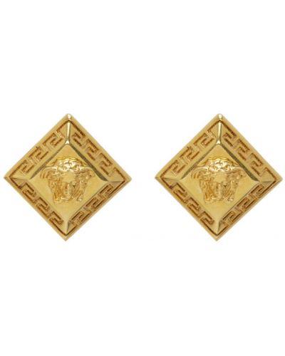 Серьги из золота золотой Versace