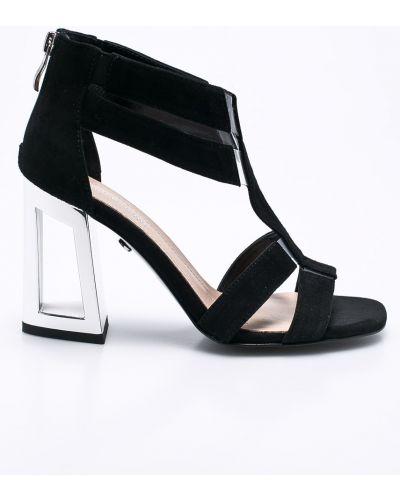 Сандалии кожаный черные Solo Femme