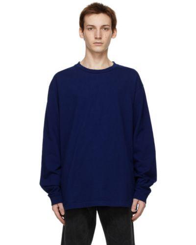 Niebieski bawełna z rękawami koszula John Elliott