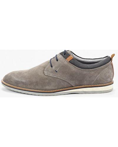 Туфли замшевые серые Pier One