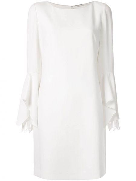 Biała sukienka długa z haftem Elie Tahari