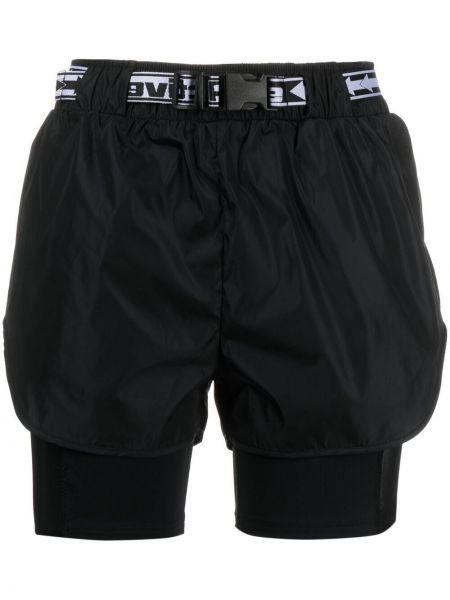 С завышенной талией компрессионные черные шорты карго Off-white