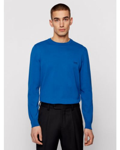 Sweter - niebieski Boss