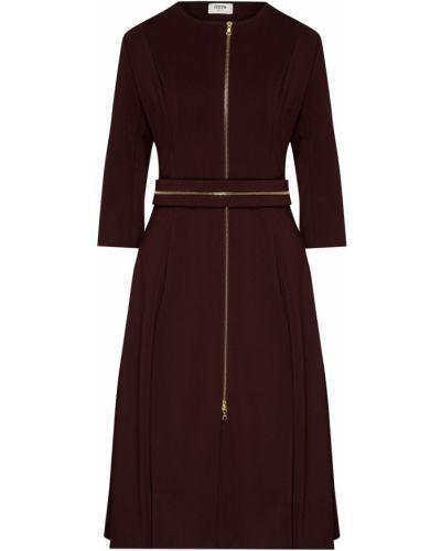 С рукавами трикотажное платье с поясом Izeta