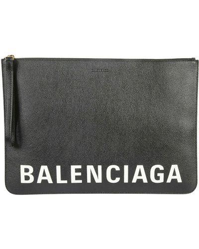 Kopertówka skórzana - czarna Balenciaga