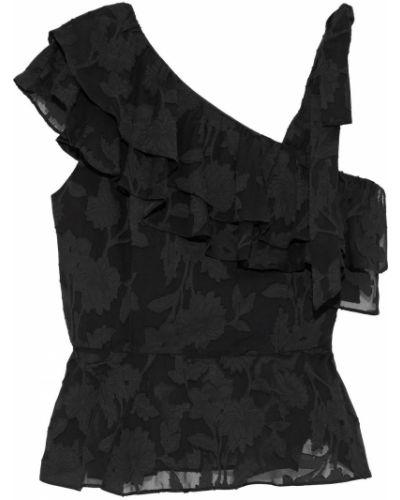 Czarny top bawełniany Rachel Zoe