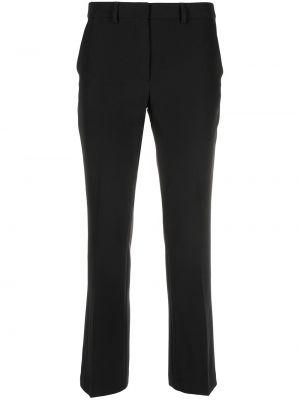 Черные укороченные брюки эластичные с потайной застежкой Seventy