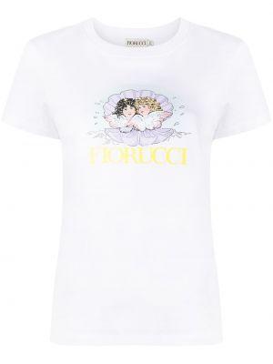 Biała t-shirt krótki rękaw Fiorucci
