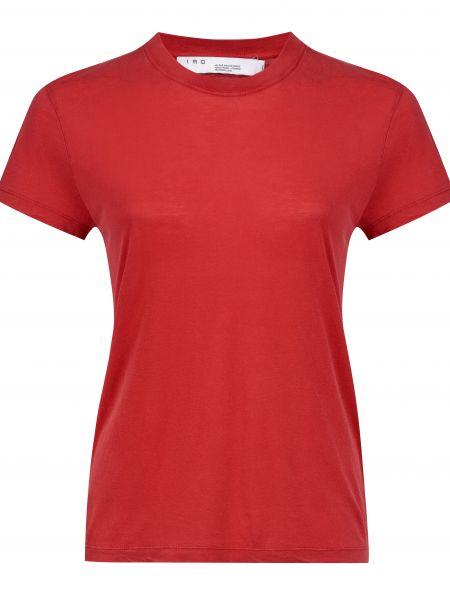 Хлопковая красная футбольная футболка Iro