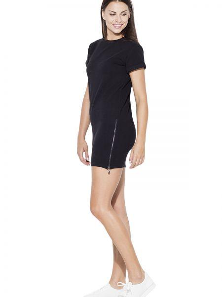 Czarna sukienka bawełniana Katrus