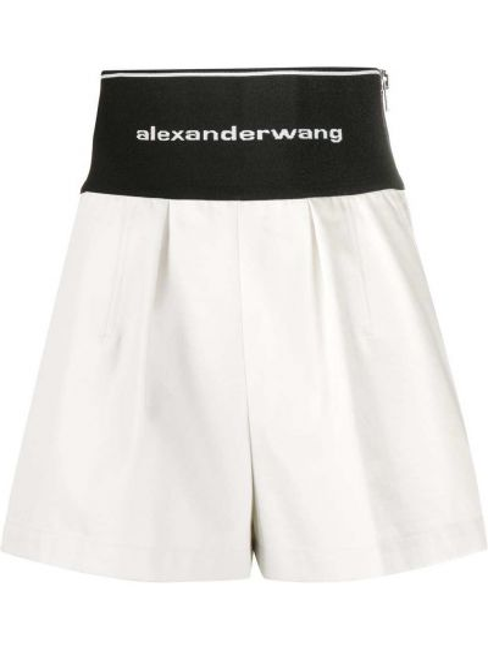 Bawełna bawełna czarny szorty Alexander Wang