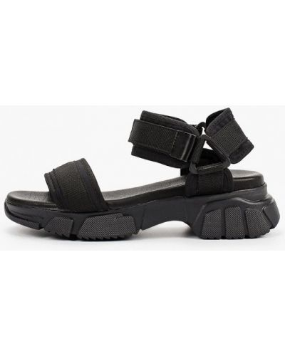 Текстильные черные сандалии Lamania