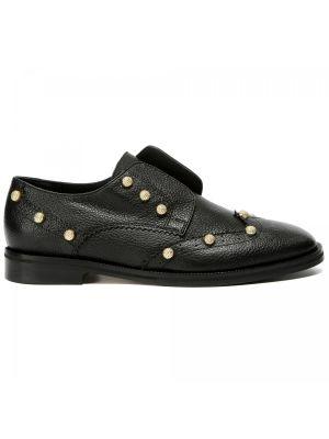 Кожаные туфли закрытые на резинке Principe Di Bologna