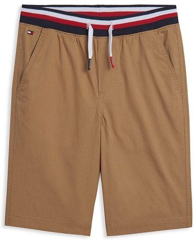 Хлопковые шорты в полоску с карманами Tommy Hilfiger